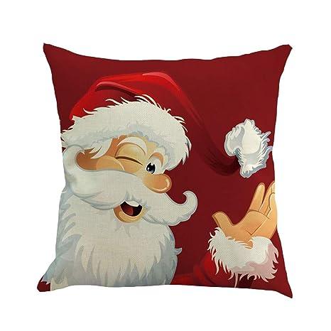 Amazon.com: Redbrowm Merry Christmas - Fundas de almohada ...