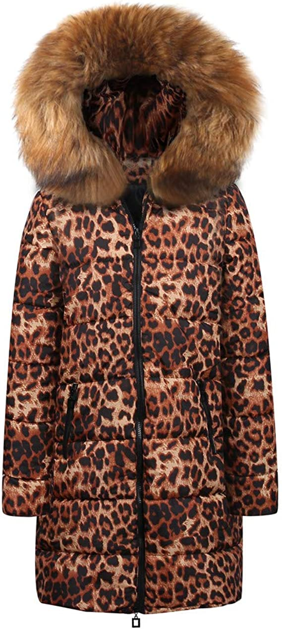 Doublelift Mens Hooded Jackets Faux Fur Outdoor Puffer Winter Coats