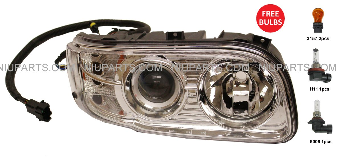 Headlight with LED Bar - Passenger Side (Fit: Peterbilt 388 389 367 567)