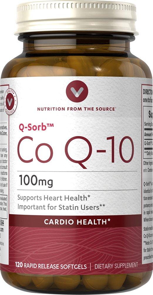 Vitamin World Q-Sorb COQ-10 Supplement, 120 Count