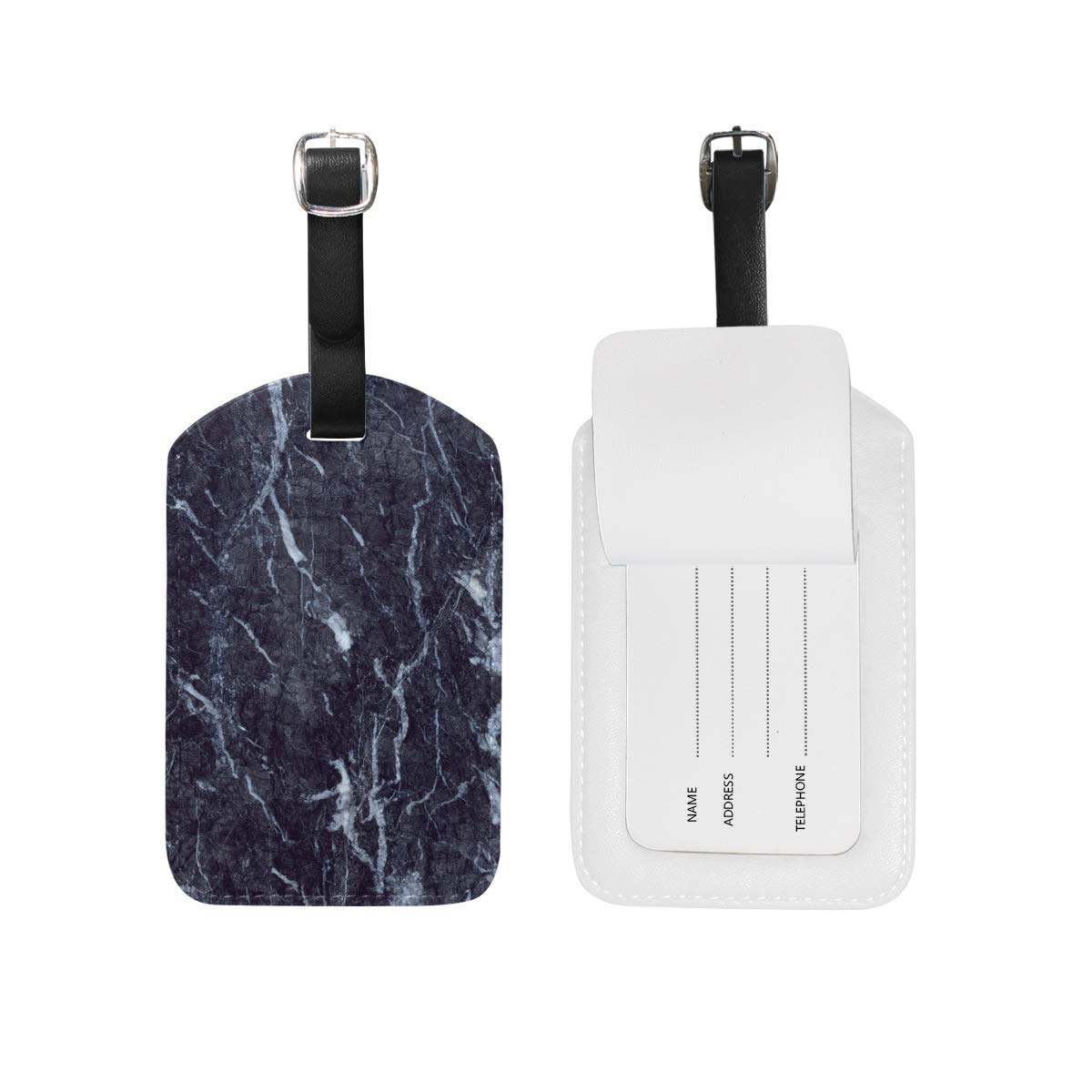 Aibileen Marble Print Passport Holder Travel Cover Case /& Luggage Tag Set for Gift
