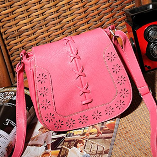 Hunputa Buns Shoulder Diagonal Woven Hollow New Handbags Fashion Vintage D r1qHw7rxyC