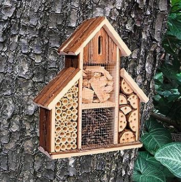Hotel de madera para insectos, casa nido para abejas y mariquitas, ideal para jardín, de Heritage: Amazon.es: Jardín