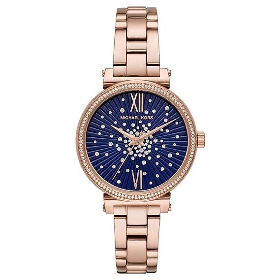 Michael Kors Reloj Analógico para Mujer de Cuarzo con Correa en Acero Inoxidable MK3971: Amazon.es: Relojes