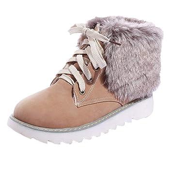 Botas de Peluche con Zapatos Planos y Bajos Botas para la Nieve LILICAT® Moda para