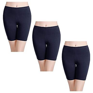 e40ef80a7 wirarpa Bragas Algodon Mujer Boxer Short Leggings Cortos Pantalon S-XXXL
