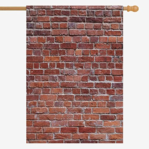 InterestPrint Vintage Old Brown Brick Wall Decorative Flag H