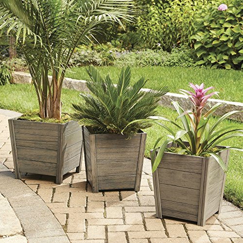 Fullrich Industries Co Better Homes and Gardens Cane Bay Wooden Outdoor Planter - Large (Urn Industries)
