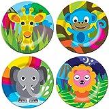 French Bull - BPA Free Kid's Dinner Set - 8-Inch Melamine Kids Plate Set - Farm, Set of 4