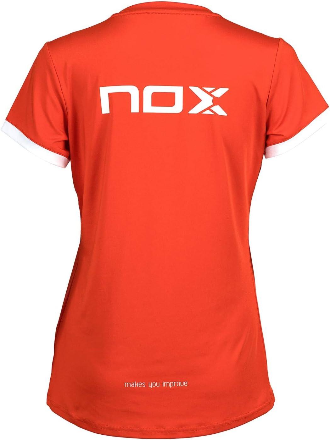 Nox Camiseta Team roja con Logo Blanco