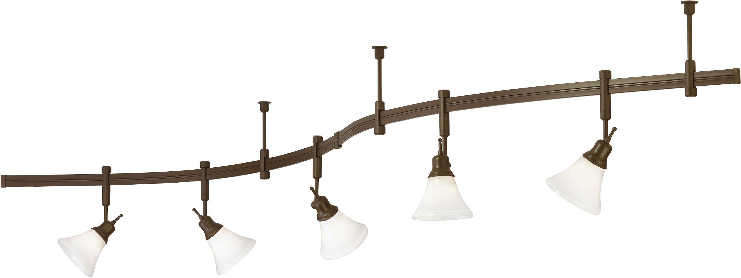 Tiella 800RAL5CWZ, Casual Track Lighting Kits, 100 watt Flexible Track Light System, Bronze
