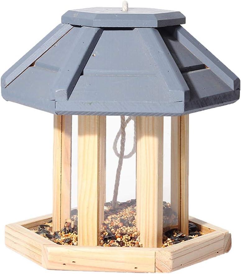 JXXDDQ Casa del Comedero para Pájaros para Colgar En El Exterior - Pájaro Salvaje Pájaro Carpintero Al Aire Libre