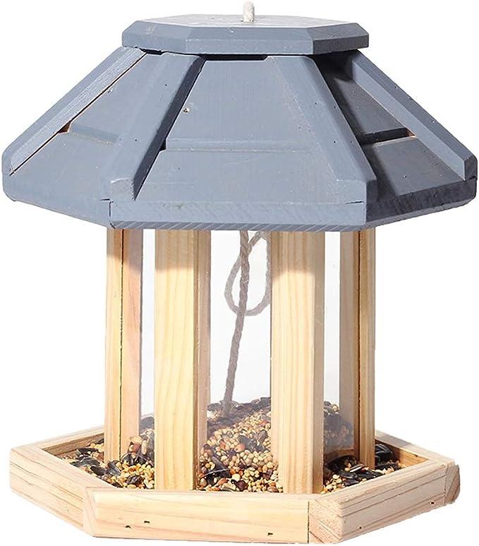 WJQSD Casa del Comedero para Pájaros para Colgar Afuera - Pájaro Salvaje Pájaro Carpintero balcón, jardín: Amazon.es: Hogar
