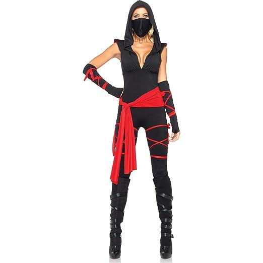 Amazon.com: Deadly Ninja Costume - Large - Dress Size 12-14 ...