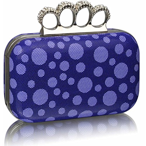 Diamante Women's LeahWard® CLUTCH Ceremony Out For Purse BLUE Beads Luxury Night Wedding Handbag Clutches Clutch DOT U5wdrawq