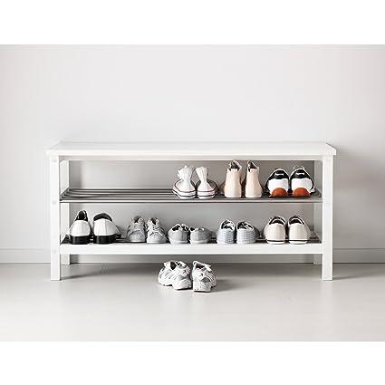 SortWise ® 2 Tier Wooden Shoe Bench Organizing Rack Entryway Shoe Storage, Living  Room