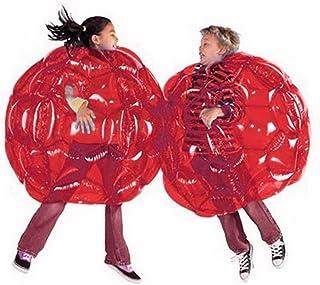 Z&HAO 2 Pcs Activité Extérieure Gonflable Bubble Tampon Boules Collision Corps Bumper Ball Amical pour Enfants Et Adulte Drôle Corps Punching Ball,Red,90Cm