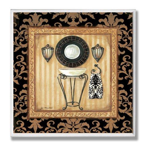 - The Stupell Home Decor Collection Black Veranda Sink Bathroom Wall Plaque