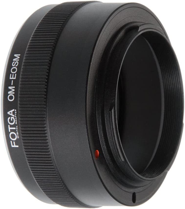 FocusFoto FOTGA Adapter Ring for Olympus OM Lens to Canon EOS EF-M Mount Mirrorless Camera Body M1 M2 M3 M5 M6 M10 M50 M100