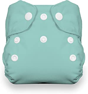 product image for Thirsties Natural Newborn All in One Cloth Diaper, Snap Closure, Aqua (5-14 lbs)
