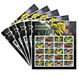 Protect Pollinators 5 Sheets of 20 Forever USPS First Class one Ounce Postage Stamps Environment Wedding Party