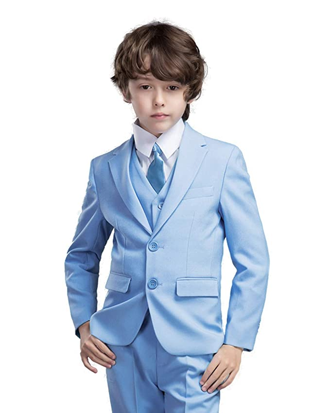 cc4b8f0aa Amazon.com  Yanlu 5 Piece Boy s Formal Suits Jacket+Vest+Pants+Shirt ...