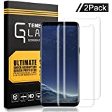 Samsung Galaxy S8 Screen Protector,ukulili Tempered Glass 3D Touch Compatible,9H Hardness,Bubble(2 Pack)