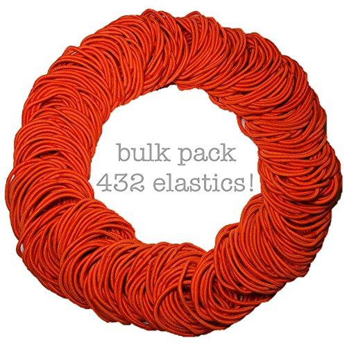 Ponytail Elastics, Bulk Pack of 432pc, 2mm ()