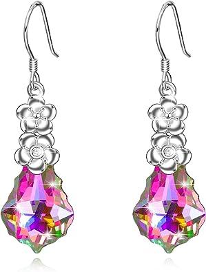 Beautiful Purple Butterfly Earrings,Christmas,Great Gift Idea,Pierced,Drop,Hook