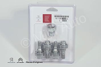 Juego de tornillos antirrobo para ruedas de aleación PSA Peugeot Citroen: Amazon.es: Coche y moto