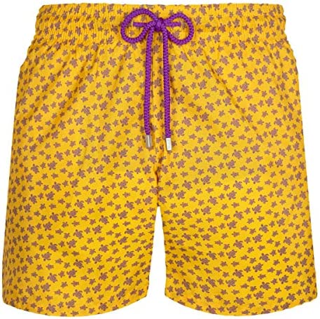 Vilebrequin Men Swimwear Ultra-Light and Packable Micro Ronde des Tortues