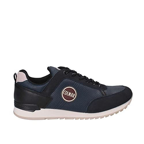 COLMAR Travis Drill 009 sneakers traforata uomo PELLE NAVY BLU inverno 2018   MainApps  Amazon.it  Scarpe e borse 245e9e2babf