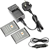 DSTE® 2x EN-EL23 Rechargeable Li-ion Battery + DC152U Travel and Car Charger Adapter for Nikon Coolpix P600 S810c P900S Digital Camera