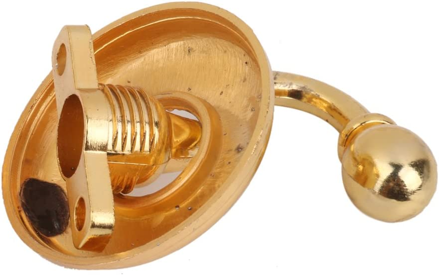 LOVIVER 2pcs Embrasses /à Rideaux Crochets Murals M/étal pour Curtain Rideau Chapeau V/êtements Bronze