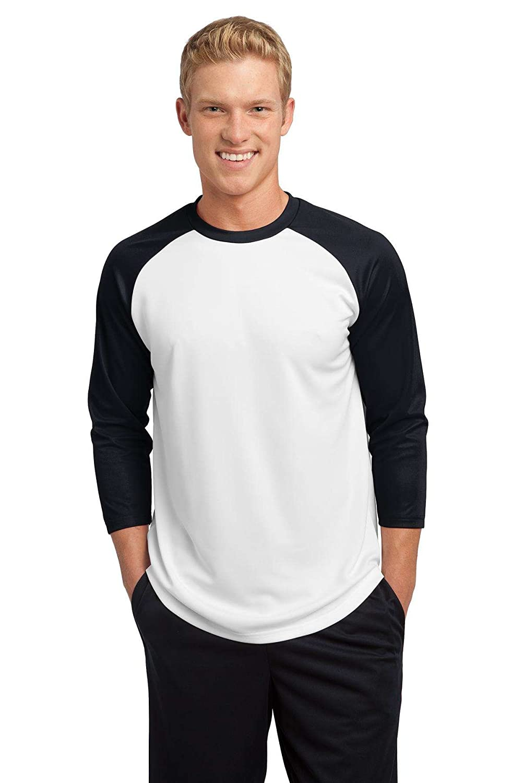 Sport Tek – PosiCharge野球ジャージー。 B008LQR4H2 4L|ホワイト/ブラック ホワイト/ブラック 4L