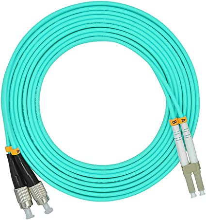 2M,LC to FC,Duplex,SingleMode,Optical Fiber Cable Patch Cord LC//PC-FC//PC Jumper