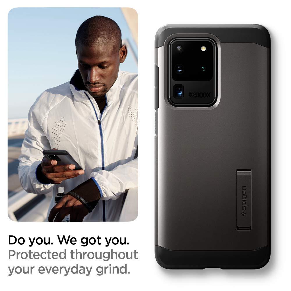 Negro 2020 Compatible con Samsung Galaxy S20 Ultra 6.9 Spigen Funda Tough Armor