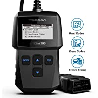 TOPDON OBD2 Scanner Code Reader Diagnostic Scan Tool AL200, for Check Engine Light, Simple Smog Check of All OBDII CAN Fault Car After 1996