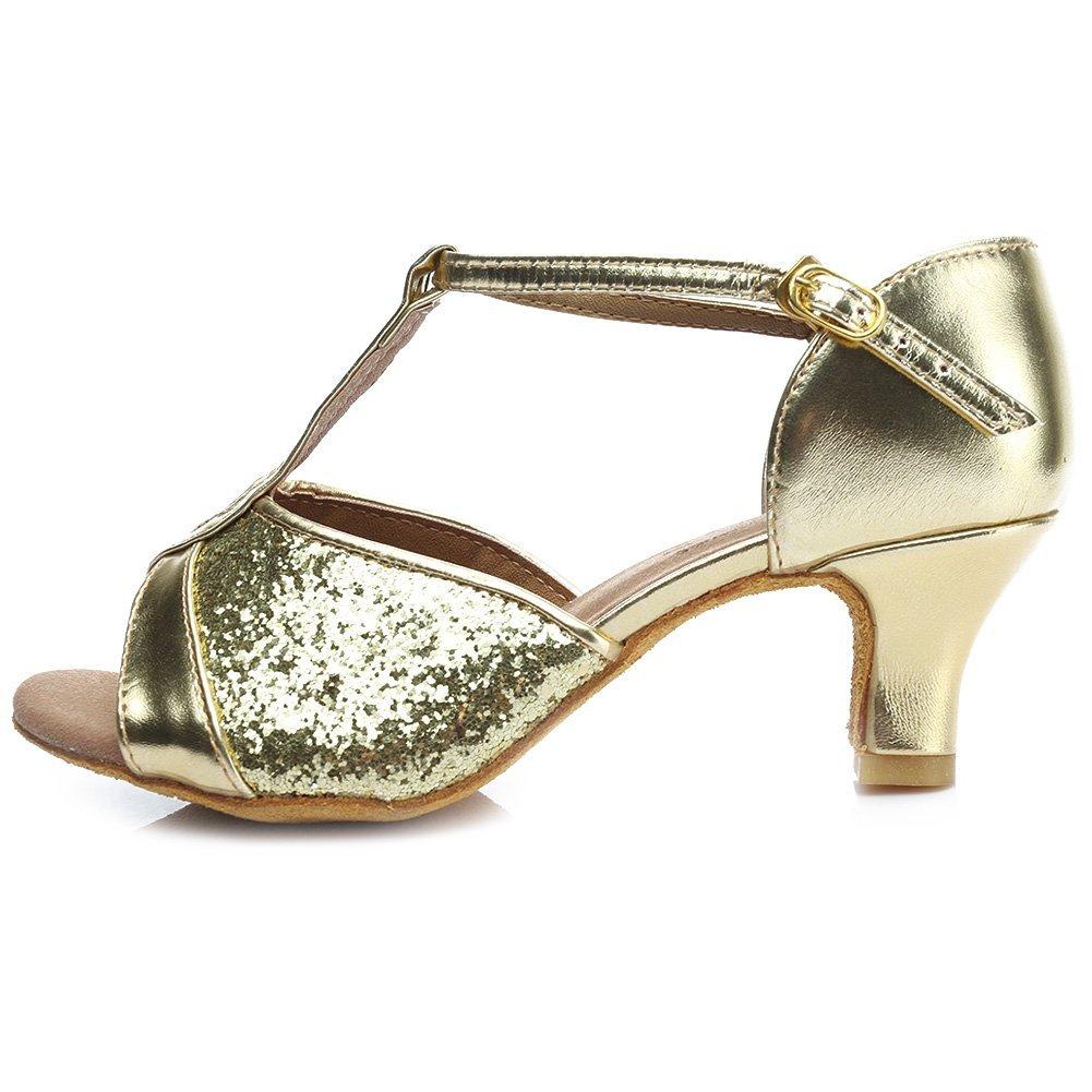HROYL Chaussures de Danse pour Femmes/Chaussures de Danse Latine Paillettes Ballroom Modèle 259 S7-W59