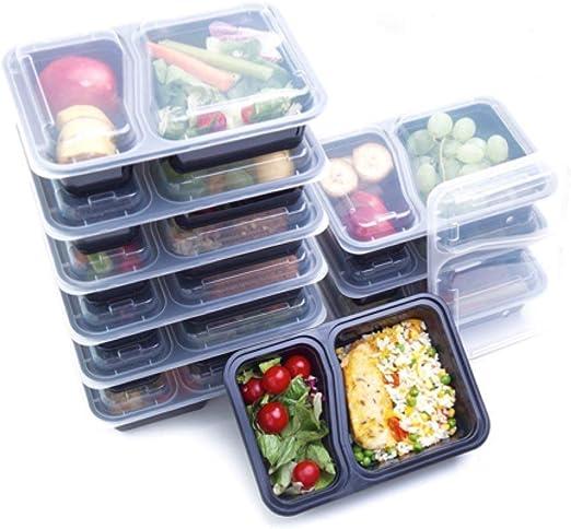 14 unidades: recipientes de 2 compartimentos para servir comida ...