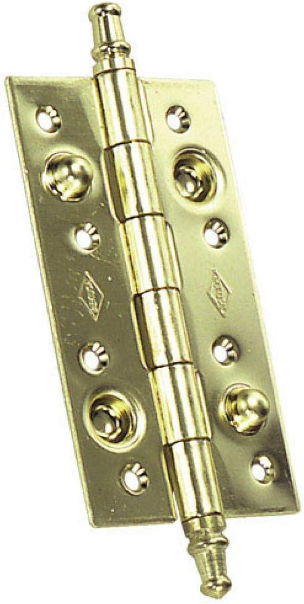 WOLFPACK LINEA PROFESIONAL 3040233 Bisagra Seguridad Latonada 150x80 mm, Dorada