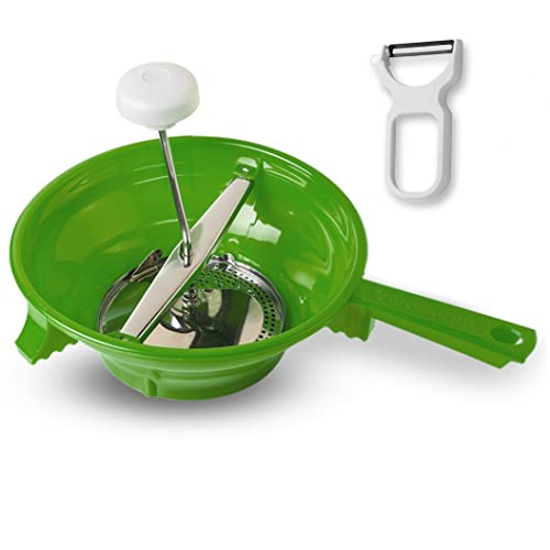 Alisa Home Foley Food Mill With Vegetable Peeler