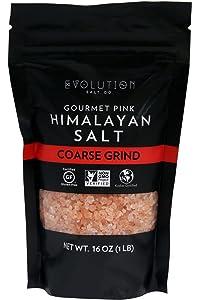 Evolution Salt Gourmet Pink Himalayan Coarse Grind, 1 Lb (Pack Of 6)