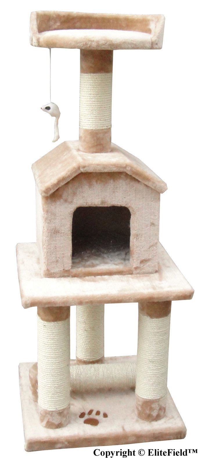 EliteField Cat Tree, Scratcher Furniture Condo House, Multiple Sizes Available (18''L x 18'' W x 45'' H)