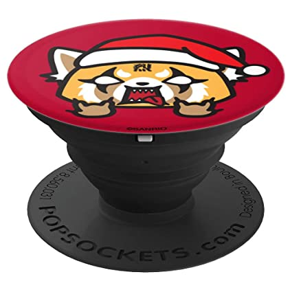 Aggretsuko Christmas.Aggretsuko Christmas Rage Popsockets Grip And Stand For Phones And Tablets