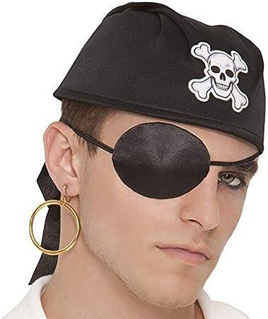 amscan 840224 Pirate Black Silk Eye-Patch, 1ct