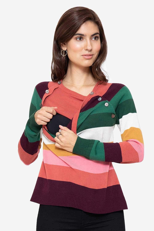 Milker Lola Stillpullover Umstandspullover aus Wolle-Viskosestrick