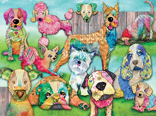 Ravensburger Patchwork Pups 150 Piece Jigsaw Puzzle for Kids – Every Piece is Unique, Pieces Fit Together Perfectly by Ravensburger