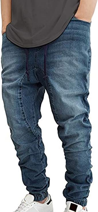 DARK INDIGO Victorious Mens Jogger Denim Pants JG803