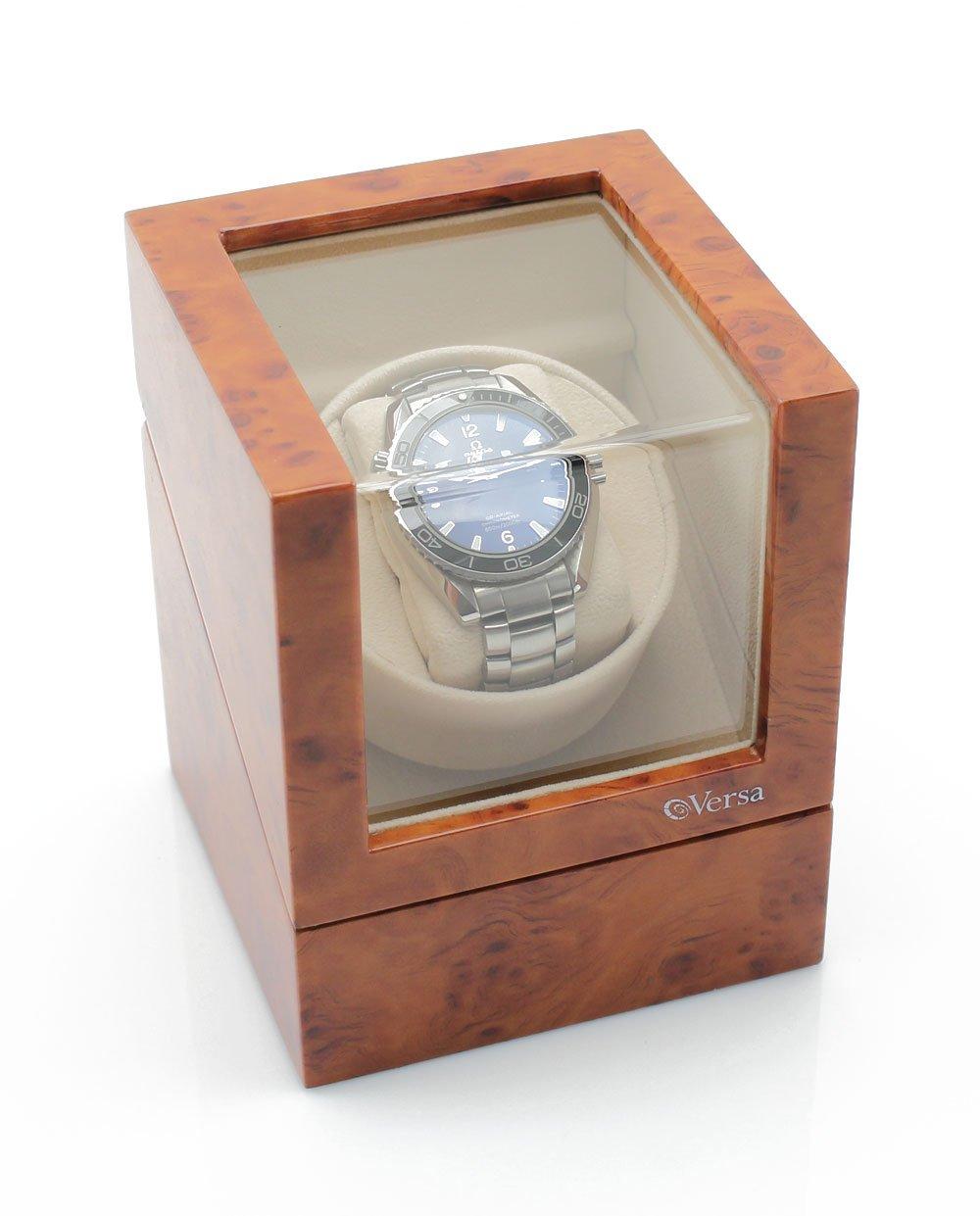 Versa Elite Single Watch Winder in Burlwood